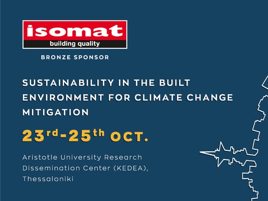 ISOMAT as a Bronze Sponsor at the SBE19-Thessaloniki scientific conference