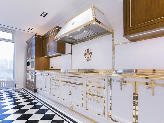Officine Gullo Signal White & Polished Brass Kitchen Project