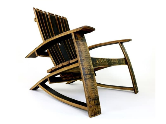 Bourbon Barrel Adirondack Chair is a Smooth Upcycle