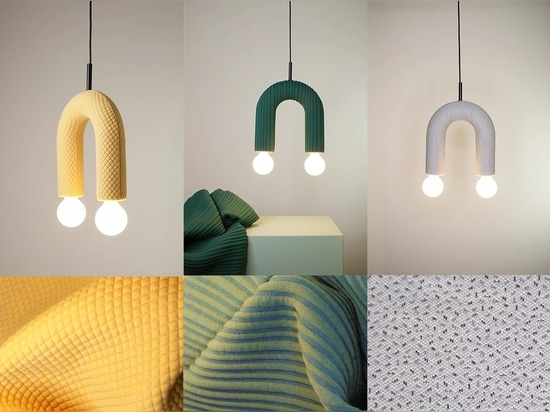 DUO lighting collection. From left to right: mosaic, husk, sprinkles.