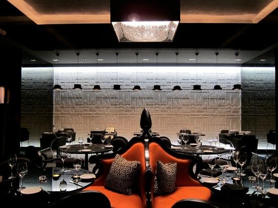DEEP SKY crystal chandelier at RITZ-CARLTON HOTEL
