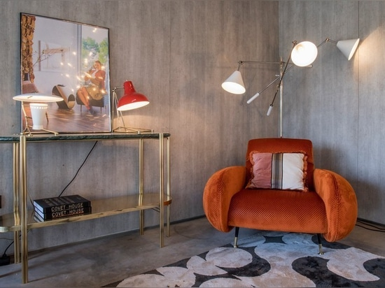 Diana is a vintage table lamp inspired by some of the greatest design classics of the mid-century era. It is a handmade lamp built with materials such as brass and aluminum. Brass was used on the b...