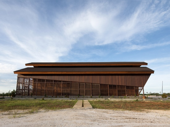 Oikumene Church in Indonesia made entirely from wood