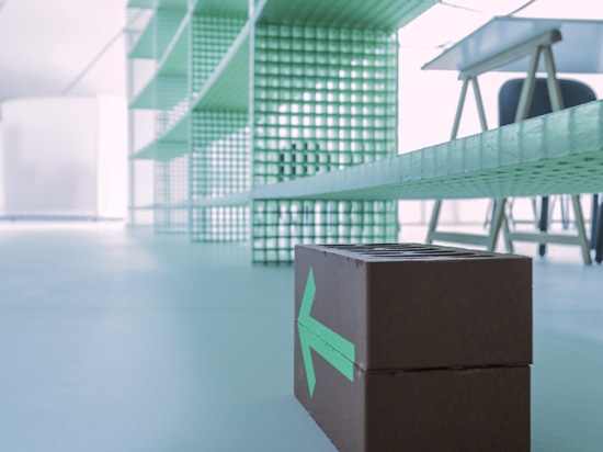 Sam Baron creates brick and mirror signage to allow social distancing at the MAAT