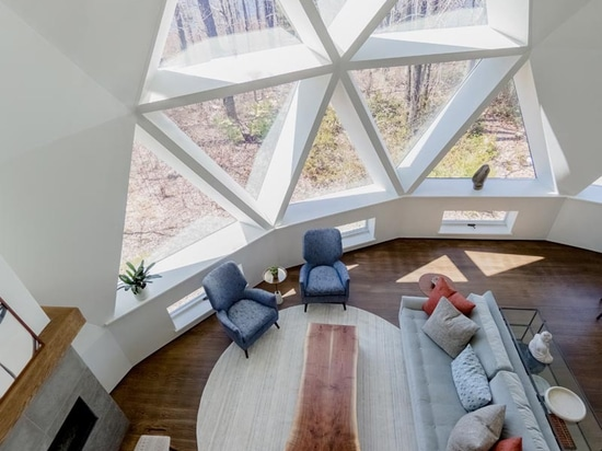A Geodesic Dome House In Massachusetts Was Given A Contemporary Interior Renovation