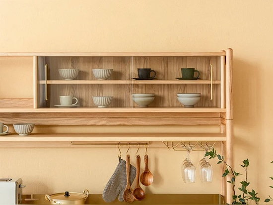 the double-layer storage space can be used as a display area