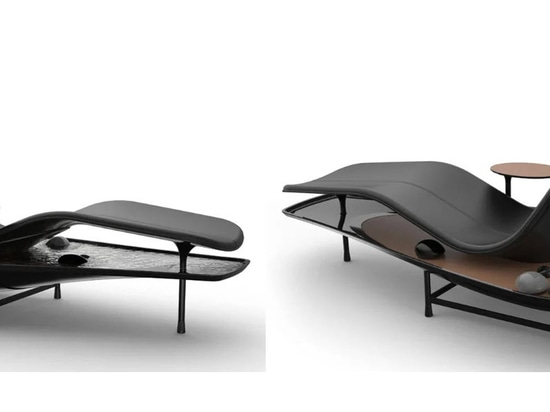 Lie back and relax in your own zen garden with the Dhyan chaise lounge concept