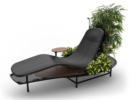 garden mode allows users to place planters at the sides and rear of the chair, immersing the user in greenery