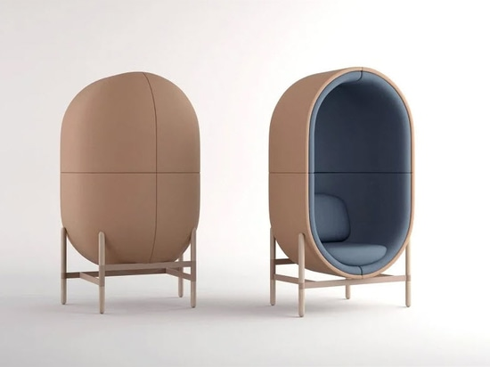 The sound-absorbing capsule chair imagines a new office reality post COVID-19
