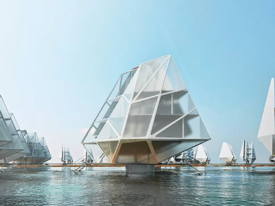 Dada envisions modular floating dwelling units for coastal communities over the world