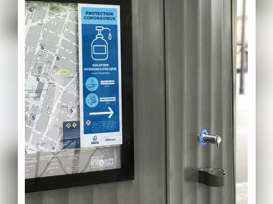 Patrick Jouin installs free hand sanitizer dispensers around Paris