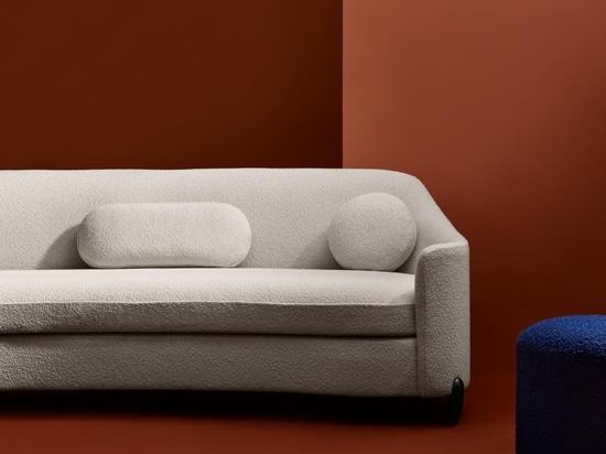 The Drift Sofa, inspired by sand dunes in the Arabian desert.