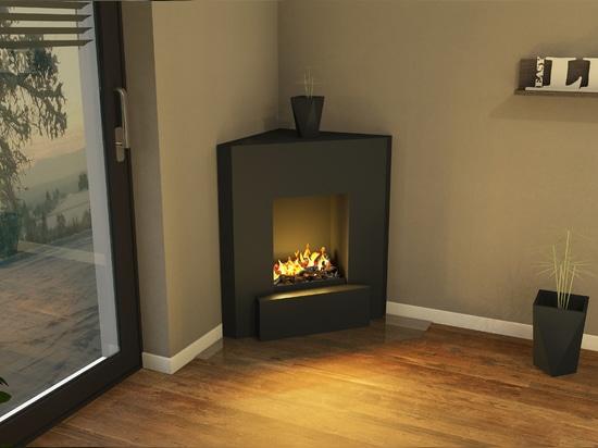 muenkel design Nook [electric corner fireplace Opti-myst / ethanol corner fireplace]