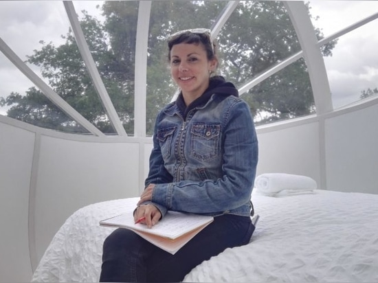 Hilary Edesess was the first to test a night in La Pomme in Mesnil-Follemprise.