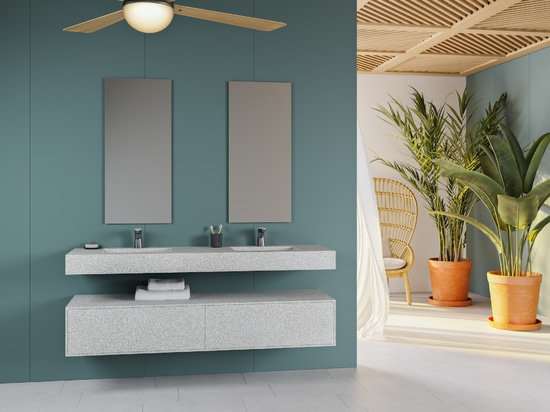 Riluxa Tennessee Double Washbasin Corian® Colour