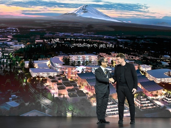 Akio Toyoda, CEO of the Toyota Motor Corporation, with Bjarke Ingels of BIG Architecture during the CES Las Vegas 2020 event.