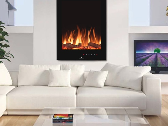 Noble Flame LENOX black [built-in electric fireplace / wall-hung]
