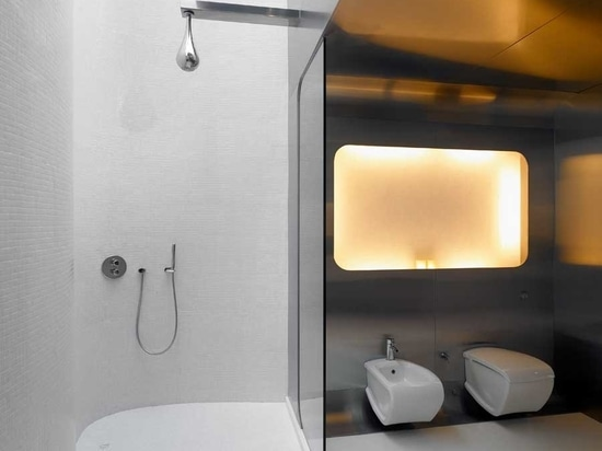 This Modern Bathroom With Curved Walls Looks Easy To Clean