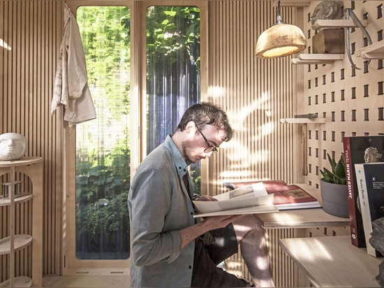 Boano Prišmontas Designs Tiny Prefab Room That Can Be Moveable To Any Place