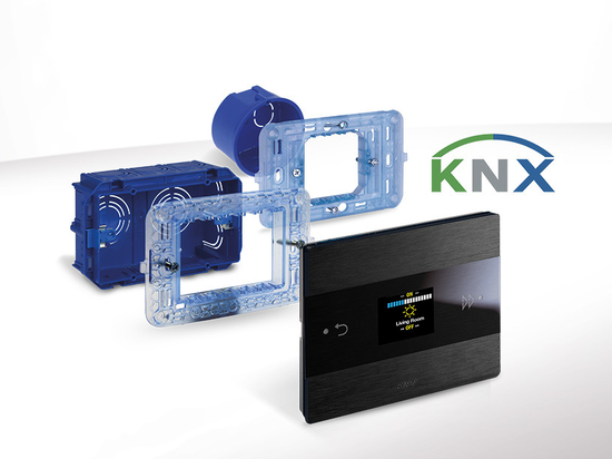 AVE Room Controller KNX: all room functions in an aesthetically wonderful device