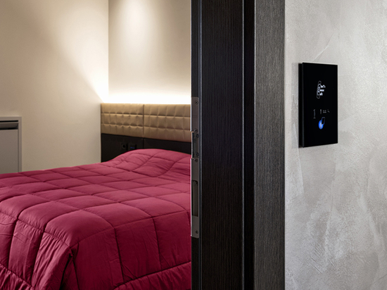 A modern hospitality concept, with touch card readers and switches
