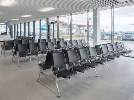 Blink looks like a standard airport seating system