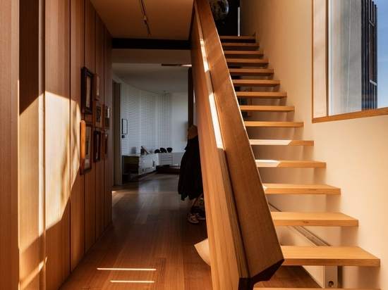 The staircase is also made from Victorian ash