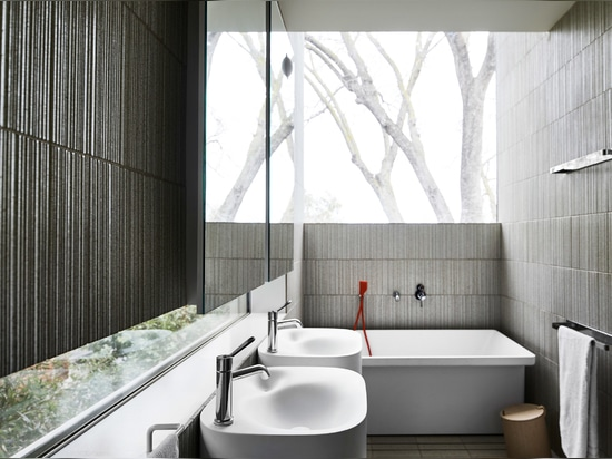 Five different kinds of tiles decorate the house