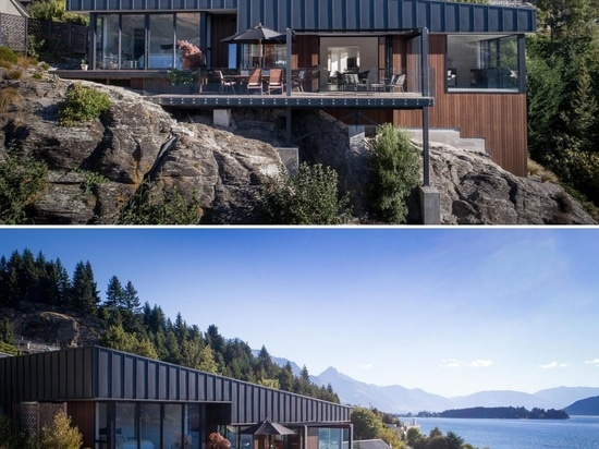 This Hillside Home With Black Metal Siding Was Designed To Maximize The Lake Views