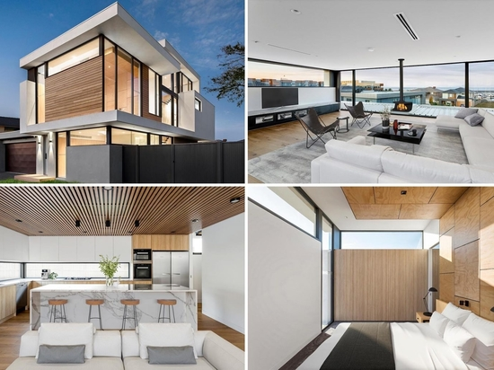 The Living Room Was Placed On The Top Floor Of This Home So They Could Enjoy The Water Views