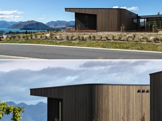 Dark Vertical Wood Siding On The Exterior Of This Modern House Gives It A Strong Personality