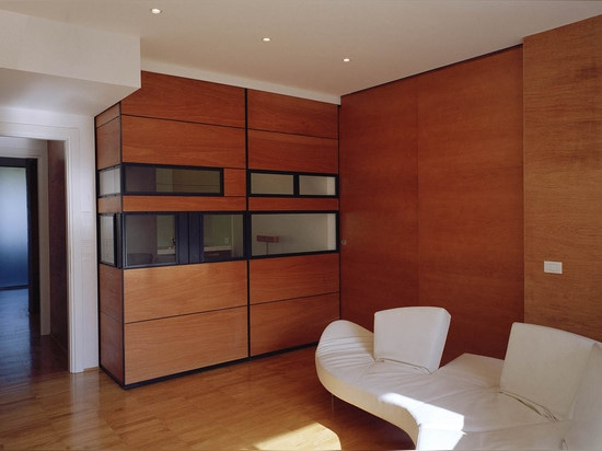 The architects divided the apartment into Unit A and Unit B and introduced a common entrance area.   Read more: 1970's Roman apartment reconfigured as modern Twin Flats Twin Flats by OFFICINALEONAR...