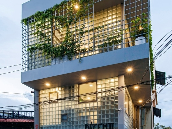 ROOM+ Design & Build made the house's walls from glass bricks