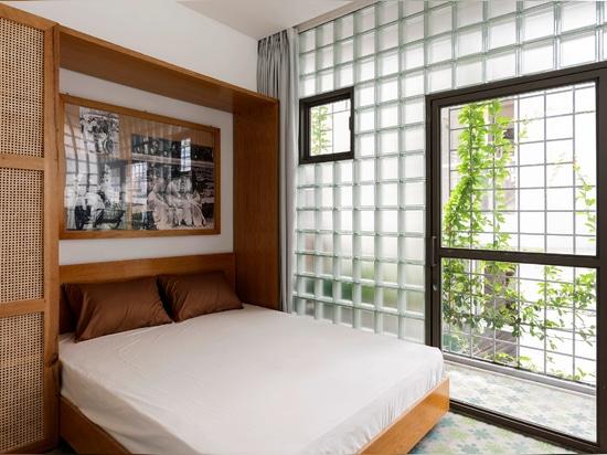 The master bedroom has a balcony
