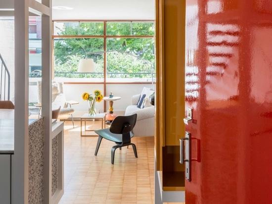 The renovation celebrates the original design of the Golden Lane flat
