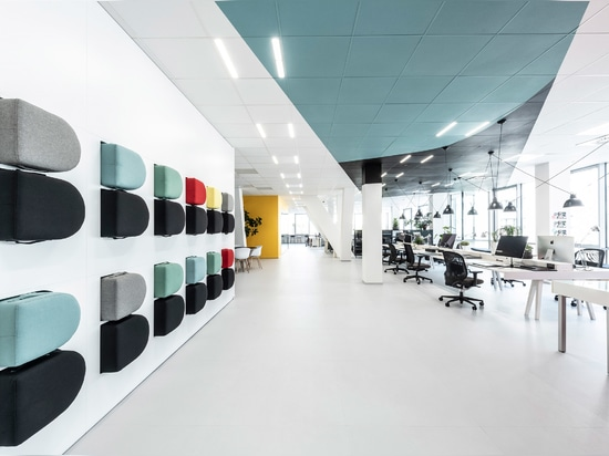 D-shaped benches can be tidied away by slotting into the wall