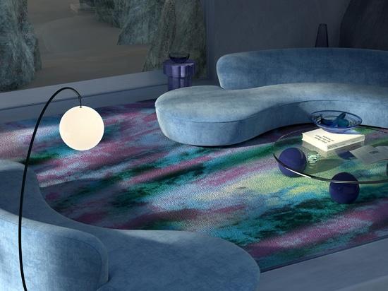 3D artist Joe Mortell rendered the Aurora carpet as part of Tsar Carpet's Fall 2020 campaign