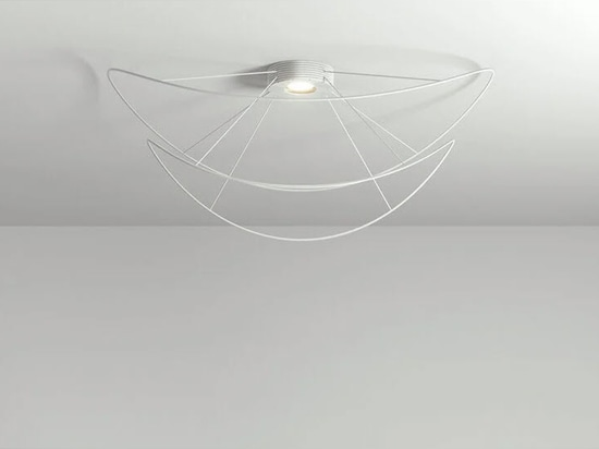 the 'hoops' design is available in four suspension and two ceiling options