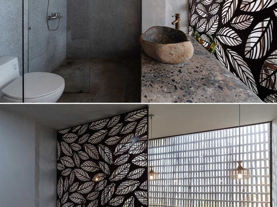 Metal Screens With A Leaf Motif Adorn Both The Interior And Exterior Of This Home