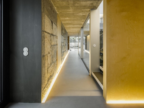 The Hallways Inside This Remodeled Farmhouse Are Illuminated With LED Lighting