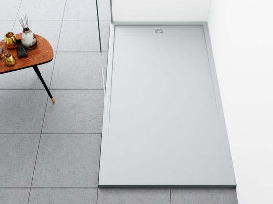 Kore shower tray with new grid design