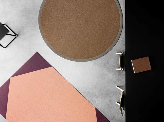 Woven vinyl rug: a modern and designer collection