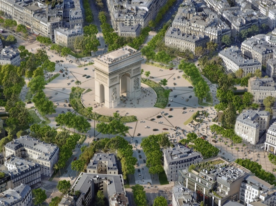 It will include planting green spaces around the Arc de Triomphe