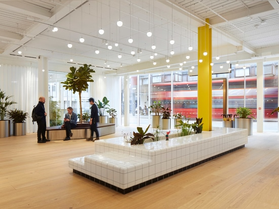 Buckley Gray Yeoman's renovation of the 1980s building included creating an open and informal reception area