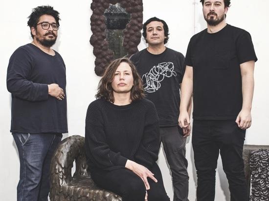 Left to right, GT2P partners Guillermo Parada, Tamara Pérez, Sebastián Rozas and Victor Imperiale at their studio in Santiago