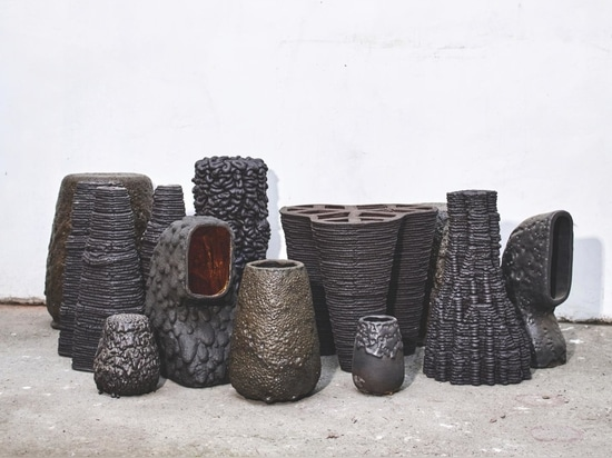 Examples and prototypes from several Remolten series show the range of textures and finishes produced by GT2P's different techniques