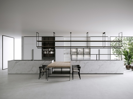 Boffi's latest kitchen and dining system called Combine designed by Pierro Lissoni.