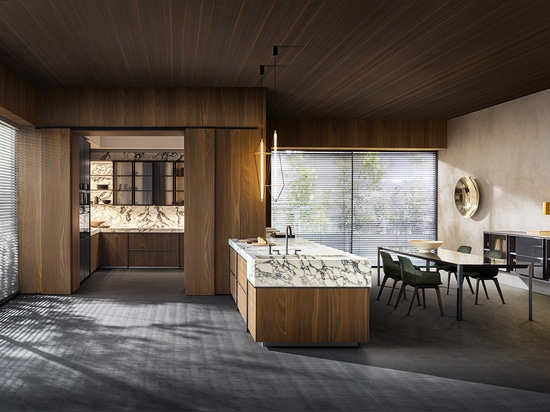 Molteni's Ratio kitchen and dining room collection designed by Vincent Van Duysen.