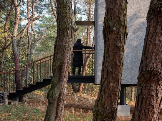 ZJJZ tops 'the mushroom' guest house with cone-shaped roof in China's Jiangxi forest