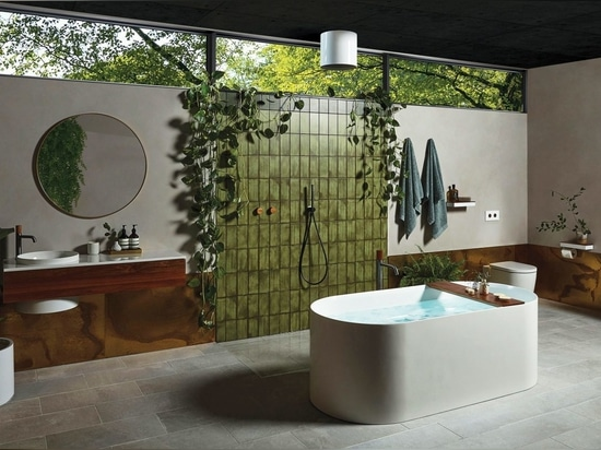 Elvire bathroom collection which won the gold award at the recent Good Design Awards in Australia in 2020.
